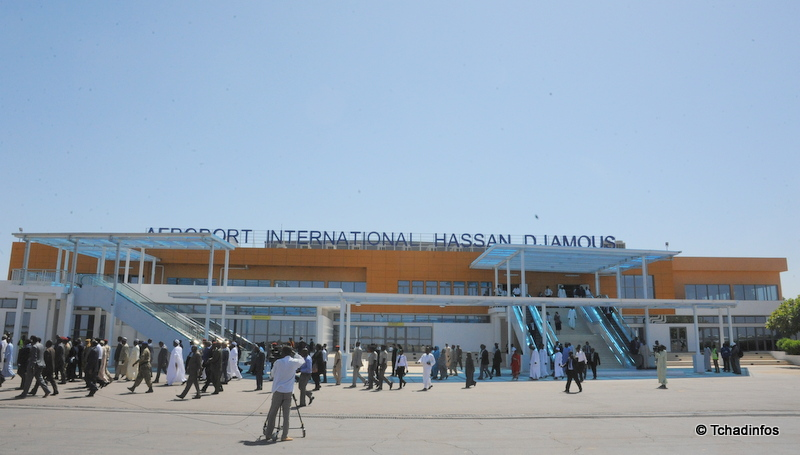 aeroport international Hassan DJamous de Ndjamena. (c) photo Tchadinfo